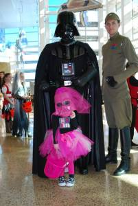 Princess Vader Trick or Treating at Tampa History Center in 2013